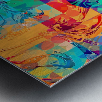 Geometric X Metal print