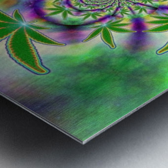 Marijuana Leaf Metal print