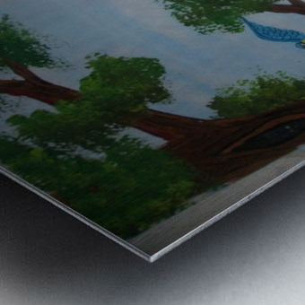 Macaw family Metal print