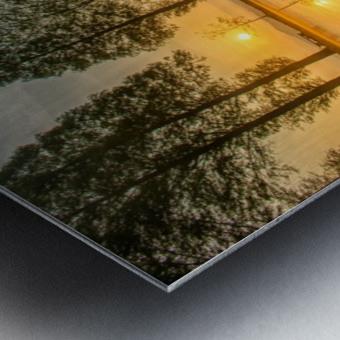 Mount Fuji reflected in Lake , Japan Metal print