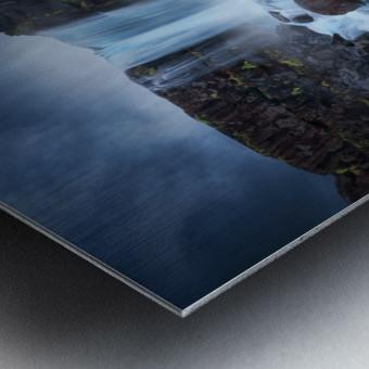 Una cascada. Metal print