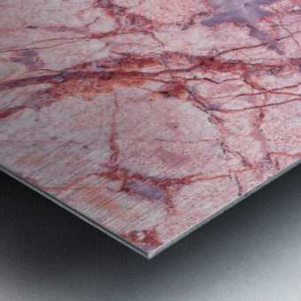Pink Marble Metal print