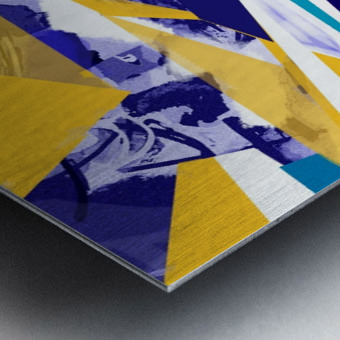 yellowblue Metal print