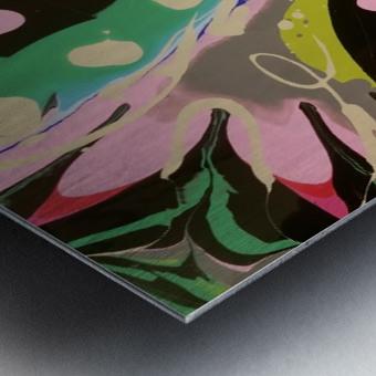 Tropical Branch Jade Metal print