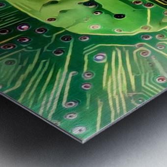 Electronic Brain Metal print