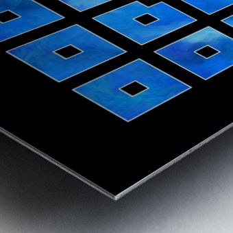Elora de sous - squares of sea Metal print