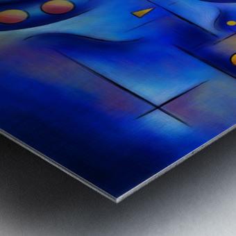 Grefenorium - blue spiral world Metal print