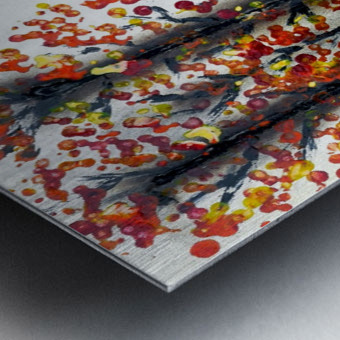 Fall Longhorn. Stephen R Metal print