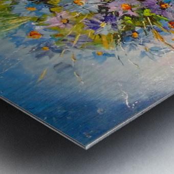 A bouquet of blue flowers Metal print