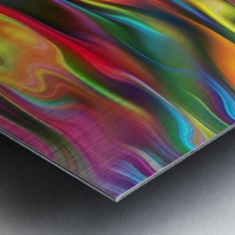 Abstract Colorful Waves Metal print