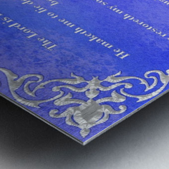 Psalm 23 1BL Metal print