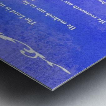 Psalm 23 3BL Metal print