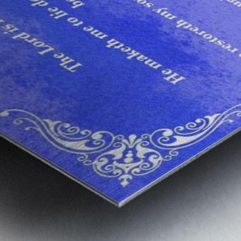 Psalm 23 5BL_1547777682.49 Metal print