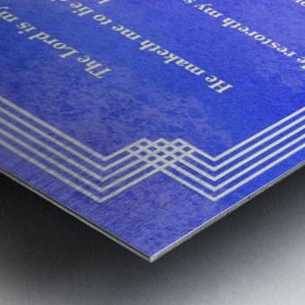 Psalm 23 2BL_1547777687.78 Metal print