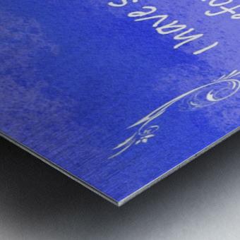 Psalm 16 8 4BL Metal print