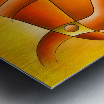 Sankhiassa - dragonfly with orange sky Metal print