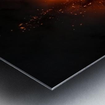 Lava explosion Metal print