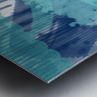 WATERCOLOR_BLUE ABSTRACKT Metal print