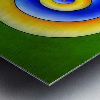 Neosmirana - running space snail Metal print