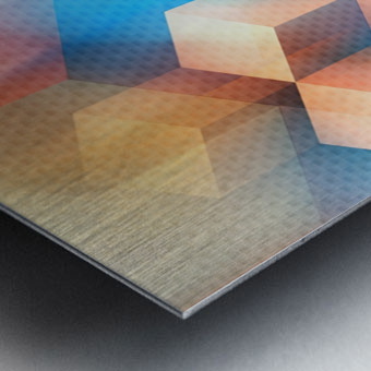 Abstract Design I   Panoramic Metal print