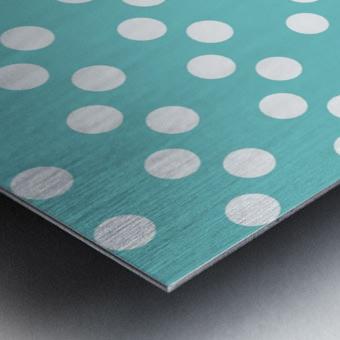 Dark Slate Gray Polka Dots Metal print