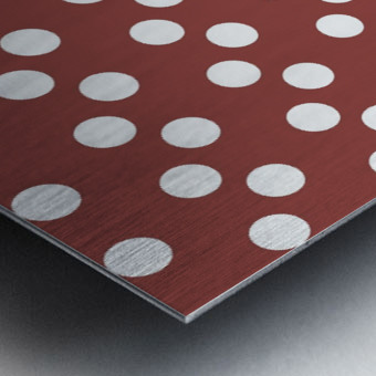 Chili Oil Polka Dots Metal print