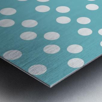CADET BLUE Polka Dots Metal print