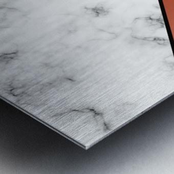 ABSTRACT BRICK MODERN MARBLE Metal print