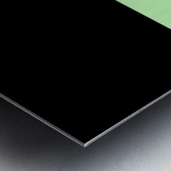 ABSTRACT GREEN GLITTER Metal print