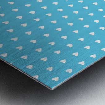 AQUA Heart Shape Pattern Metal print