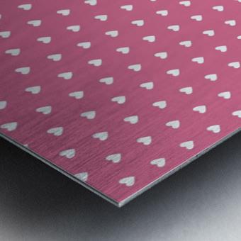 Pale Violet Red Heart Shape Pattern Metal print