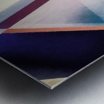 Composition des Pyramides Metal print