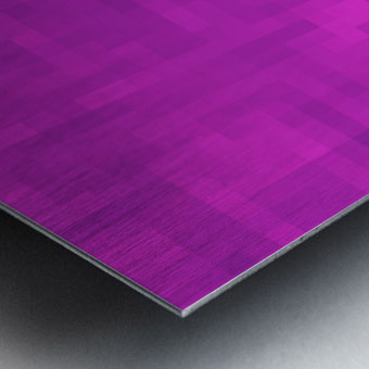 geometric square pixel pattern abstract in pink and purple Metal print