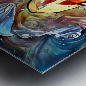 Trendy Abstract Metal print