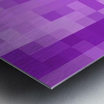 Abstract Pixel Art - Purple Shades Metal print