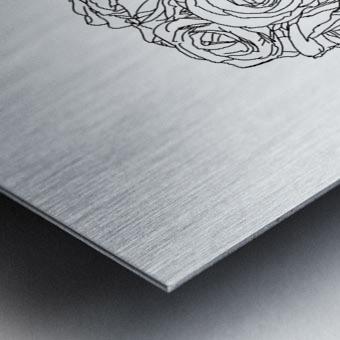Line Drawing Metal print