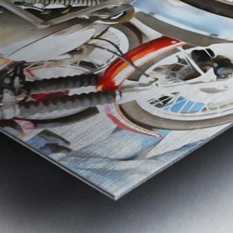 Moto Guzzi and BMW Front Wheels Metal print