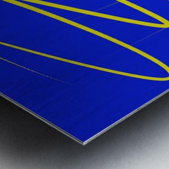 interaction of colors Metal print