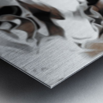 Brown Sugar & Coffee - brown grey white black swirls large abstract wall art Metal print
