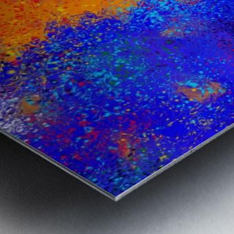 Seisnahorra - orange and blue balanced freedom Metal print