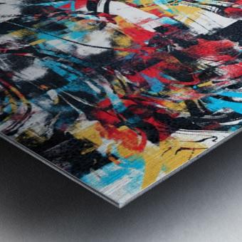 Abstract Flow II Metal print