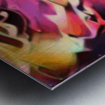 Rising Glow - multicolor swirls abstract wall art Metal print