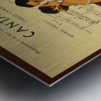 advertisement tango music dance Metal print