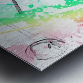 windmill art print multicolor 02 Metal print