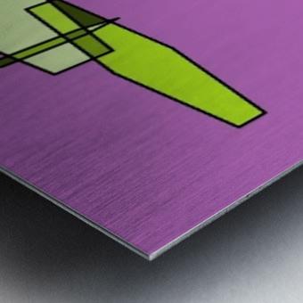 green zebra Metal print