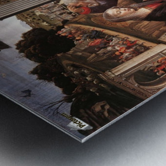 The adoration of the sheperds Metal print