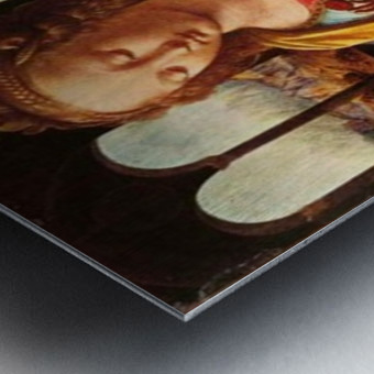 Leonardo da Vinci. The Madonna of the Carnation HD 300ppi Metal print