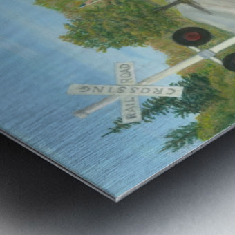 Hawleyville Scene - Newtown Scenes 16X20 Metal print
