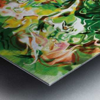 green fluid abstract Metal print