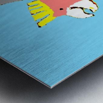 Happy Galah - Blue Metal print